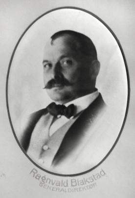 Generaldirektør Ragnvald Blakstad. (Norsk Vasskraft- og Industristadmuseum sitt arkiv)