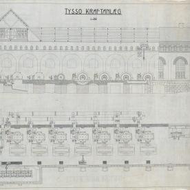 Teikningar, Tysso 1. (Norsk Vasskraft- og Industristadmuseum sitt arkiv)