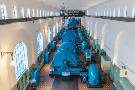 Interiør Tysso 1, 2015. (Foto Harald Hognerud, Norsk Vasskraft- og Industristadmuseum sitt arkiv)