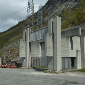 Inngangsportal Tysso 2, 2010. (Foto: Harald Hognerud, Norsk Vasskraft- og Industristadmuseum sitt arkiv)
