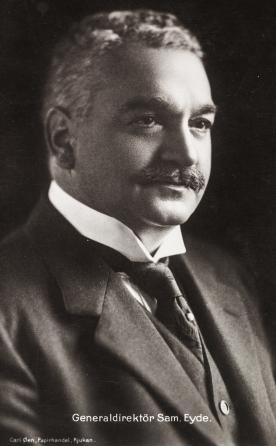 Generaldirektør i Tyssefaldene, Sam Eyde. Foto Carl Øen. /Norsk Vasskraft- og Industristadmuseum sitt arkiv)