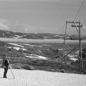 Taubanen til Vendevann, ca. 1950. (Norsk Vasskraft- og Industristadmuseum sitt arkiv)