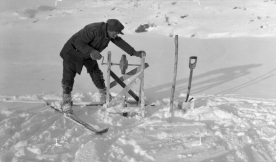 Lodding for tunnelutslag, Breiavann, 1928. (Norsk Vasskraft- og Industristadmuseum sitt arkiv)