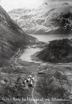 Skjeggedal, 1907-10. (Norsk Vasskraft- og Industristadmuseum sitt arkiv)